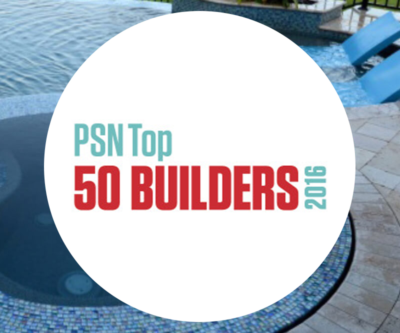 Best swimming pool builders top 50 in the u s for Top pool builders